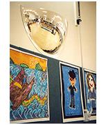 Convex 900mm Acrylic Half Dome Indoor Corridor Mirror