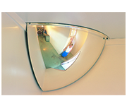 Convex 300mm Acrylic Quarter Dome Indoor Corner Mirror