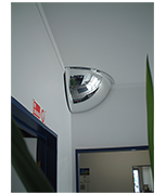 Thumbnail of Convex 450mm Acrylic Quarter Dome Indoor Corner Mirror