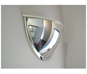 Convex 600mm Acrylic Half Dome Indoor Corridor Mirror with Dust Cap