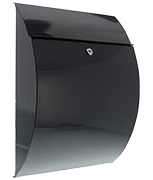 Riviera Anthracite - Steel Post Box