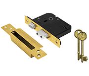 Thumbnail of Asec Vital BS 5 Lever Sashlock (75mm, Polished Brass)