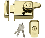Asec Kite - Auto Deadlocking Night Latch (60mm, Polished Brass)