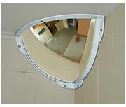 Thumbnail of Convex 300mm Polycarbonate Quarter Dome Indoor Corner Mirror - Anti-ligature