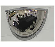 Thumbnail of Convex 500mm Stainless Steel Half Dome Corridor Mirror - Anti-ligature
