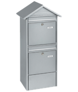 Thumbnail of Jumbo Silver - Steel Post Box