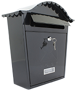 Classic Black - Steel Post Box