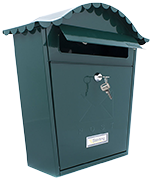 Classic Green - Steel Post Box