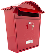 Classic Red - Steel Post Box