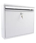 Elegance White - Steel Post Box