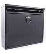 Elegance Black - Steel Post Box