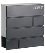 Estilo 21 - Dark Grey Steel Post Box