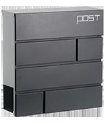 Estilo 21 - Dark Grey Steel Post Box