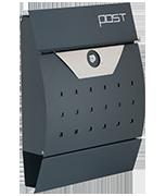 Estilo 22 - Dark Grey Steel Post Box
