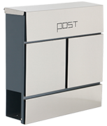 Estilo 24 - Stainless Steel Post Box