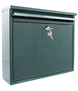 Elegance Green - Front Loading 11Ltr Medium Post Box