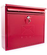Elegance Red - Steel Post Box