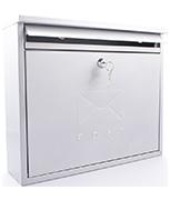 Elegance Silver - Steel Post Box