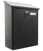 Grand Black - Steel Post Box
