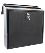 Contemporary Black - Dual Access Steel Post Box