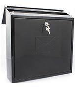 Contemporary Black - Dual Access 12Ltr Medium Post Box