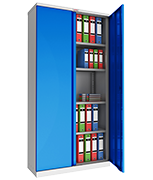Phoenix SCL1891GBE Blue Steel Storage Cupboard