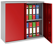 Thumbnail of Phoenix SCL0891GRE Red Steel Storage Cupboard