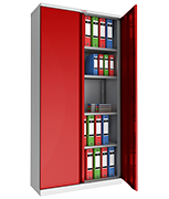 Phoenix SCL1891GRE Red Steel Storage Cupboard