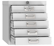 Phoenix MD0304G Five Drawer Cabinet