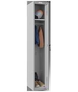 Phoenix Single 1 Door Grey Locker - Key Locking