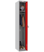 Phoenix Single 1 Door Red Locker - Key Locking