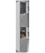 Phoenix Single 4 Door Grey Locker - Key Locking
