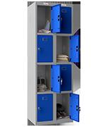 Phoenix Double 4 Door Blue Locker - Key Locking