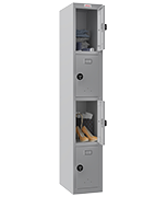 Thumbnail of Phoenix Single 4 Door Grey Locker - Combination Locking
