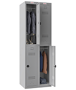 Thumbnail of Phoenix Double 2 Door Grey Locker - Combination Locking
