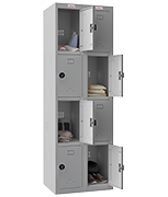 Thumbnail of Phoenix Double 4 Door Grey Locker - Combination Locking