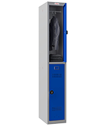 Thumbnail of Phoenix Single 2 Door Blue Locker - Combination Locking