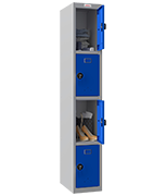Thumbnail of Phoenix Single 4 Door Blue Locker - Combination Locking