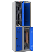 Thumbnail of Phoenix Double 2 Door Blue Locker - Combination Locking