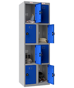 Thumbnail of Phoenix Double 4 Door Blue Locker - Combination Locking