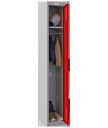 Thumbnail of Phoenix Single 1 Door Red Locker - Combination Locking