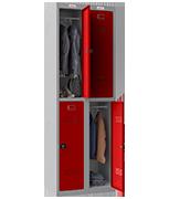 Thumbnail of Phoenix Double 2 Door Red Locker - Combination Locking