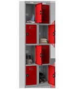 Thumbnail of Phoenix Double 4 Door Red Locker - Combination Locking