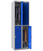 Thumbnail of Phoenix Double 2 Door Blue Locker - Electronic Locking