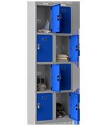 Thumbnail of Phoenix Double 4 Door Blue Locker - Electronic Locking