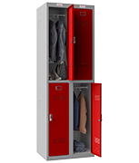 Thumbnail of Phoenix Double 2 Door Red Locker - Electronic Locking