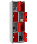 Thumbnail of Phoenix Double 4 Door Red Locker - Electronic Locking