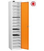 Probe Fifteen Bay Orange Laptop Locker (charging)