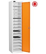 Probe Fifteen Bay Orange Laptop Locker (charging)
