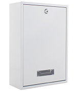 Thumbnail of Indoor White - Rear Access Steel Post Box